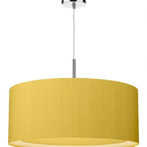 Hockney 60cm Pendant Light Chrome with Shade (choose colour) HOC60 (Hand made, 10-14 day Del)